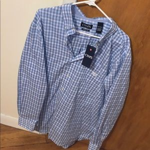 Button down long sleeve shirt new with tags.